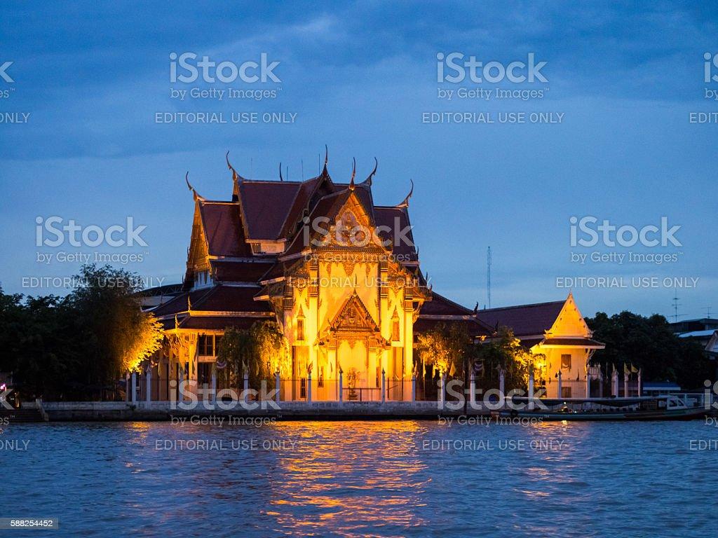 Wat Rakhang Khositaram in Bangkok, Thailand stock photo