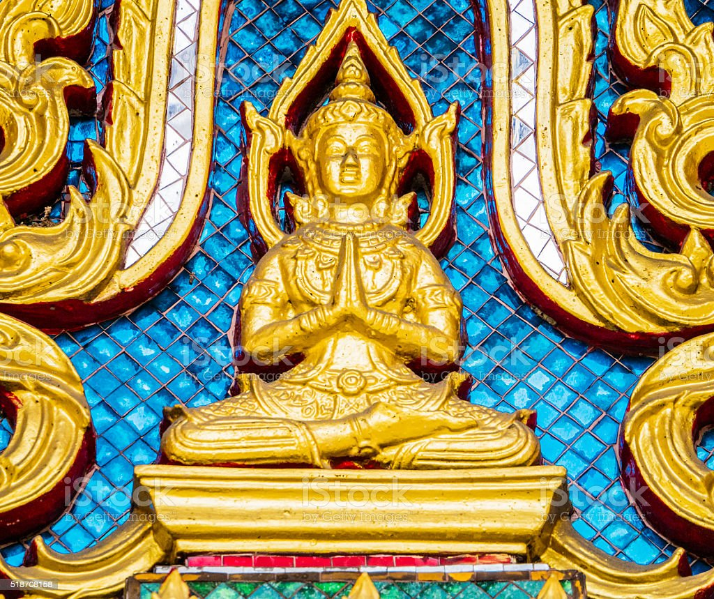Wat Ratchaburana temple Bangkok Thailand stock photo
