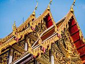 Wat Ratchaburana temple Bangkok Thailand