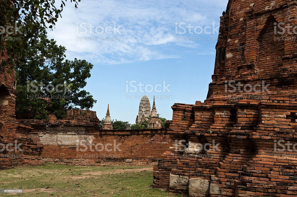 Wat Ratchaburana Temple stock photo