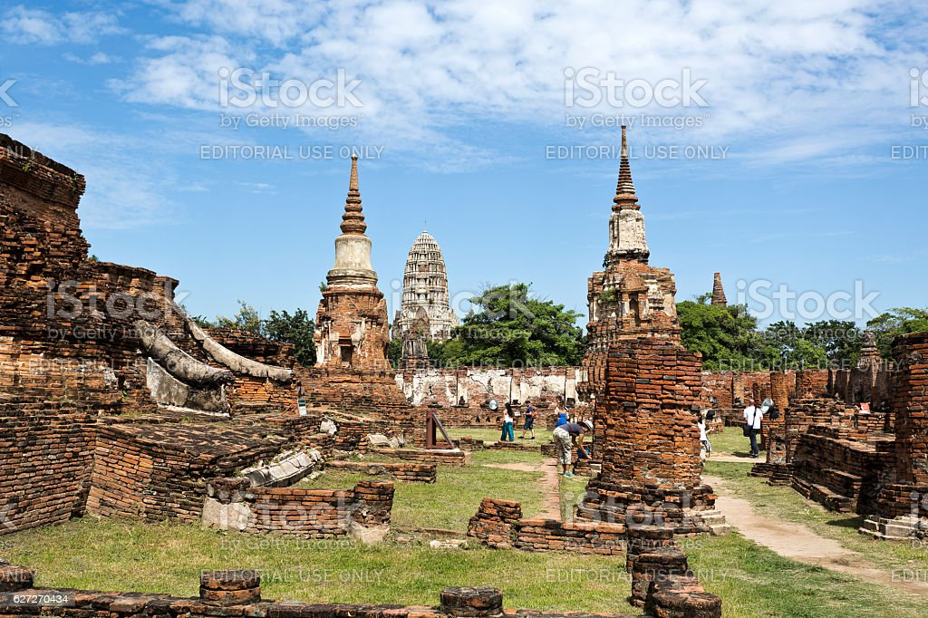 Wat Ratchaburana Temple stock photo