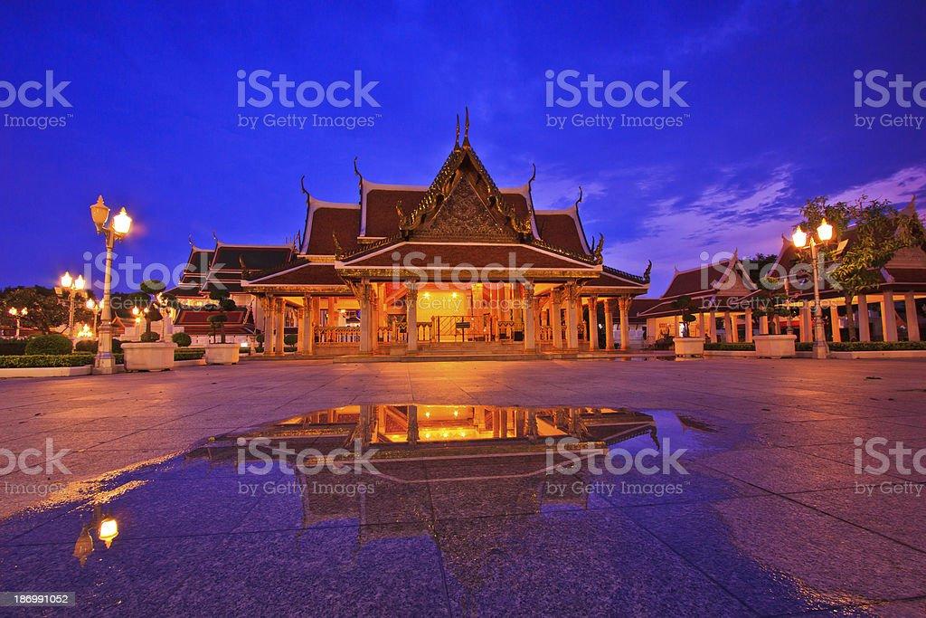 Wat Ratchanadda Temple in bangkok asia Thailand royalty-free stock photo