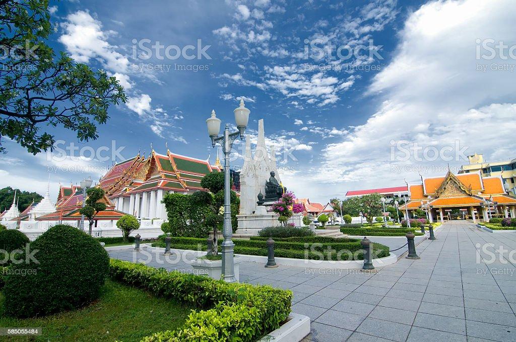 Wat Ratchanaddaram Worawihan (Loha Prasat Metal Palace), Bangkok, Thailand stock photo