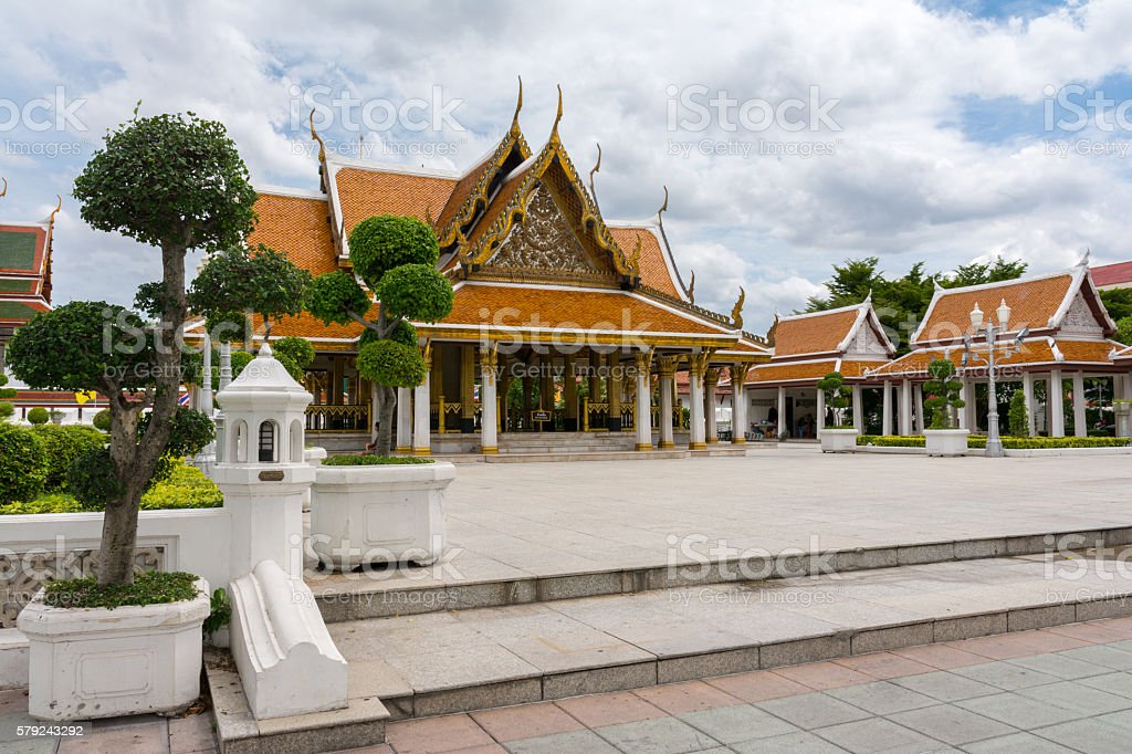 Wat Ratchanatdaram (Loha Prasat), Bangkok, Thailand stock photo