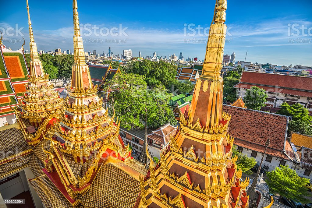 Wat Ratchanatdaram in Bangkok stock photo