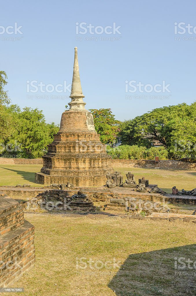 Wat Ratchburana, Ayutthaya royalty-free stock photo