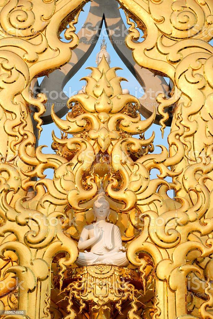Wat Rong Khun of Chiangrai stock photo