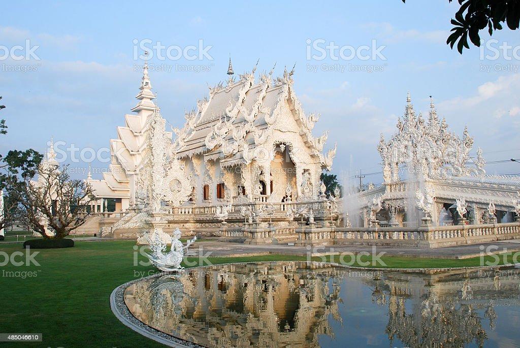 Wat Rong Khun (White Temple) stock photo
