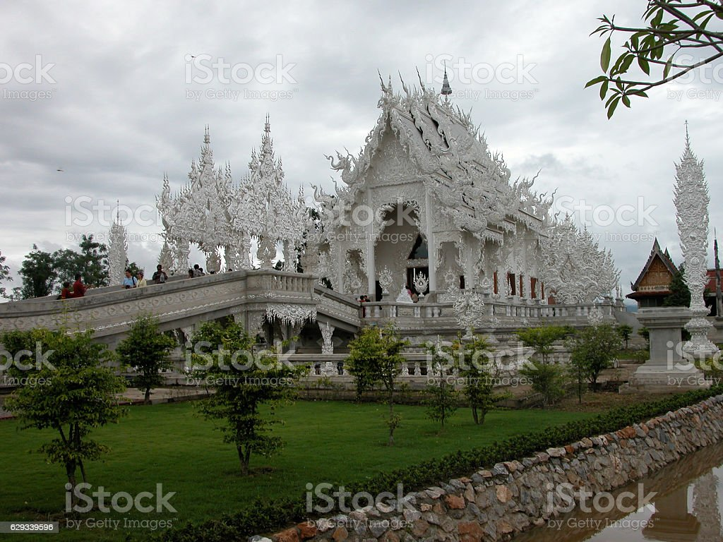 Wat Rong Khun (White Temple, Thailand) stock photo