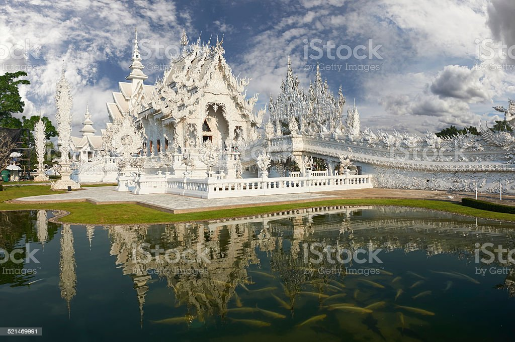 Wat Rong Khun,Chiangrai, Thailand stock photo