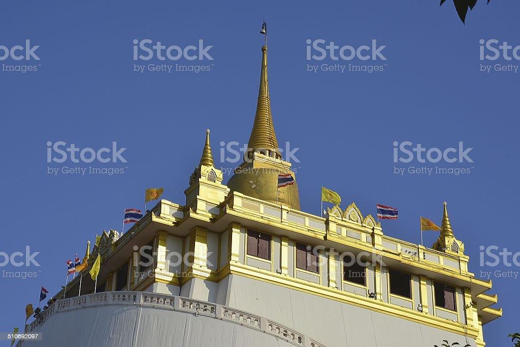 Wat Saket, Golden Mount temple Bangkok stock photo