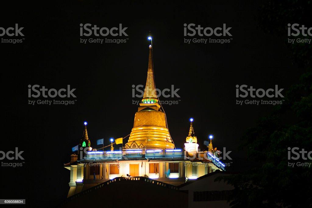 Wat Saket in Bangkok stock photo