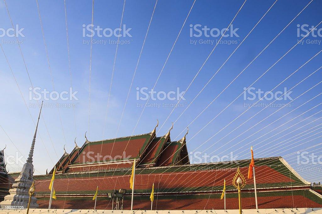 Wat Saket Ratcha Wora Maha Wihan  is a Buddhist temple royalty-free stock photo