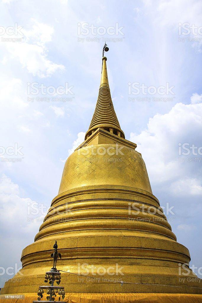 Wat Saket temple , the golden mount, Bangkok, Thailand royalty-free stock photo