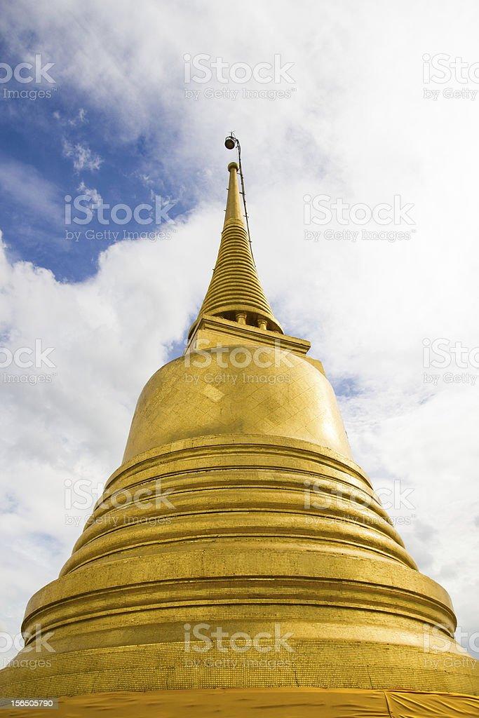 Wat Saket temple , the golden mountain royalty-free stock photo