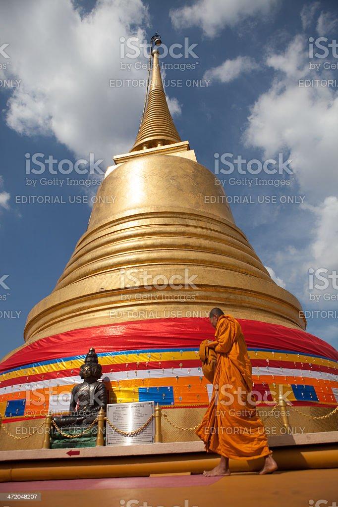 wat Saket,Bangkok, Thailand stock photo