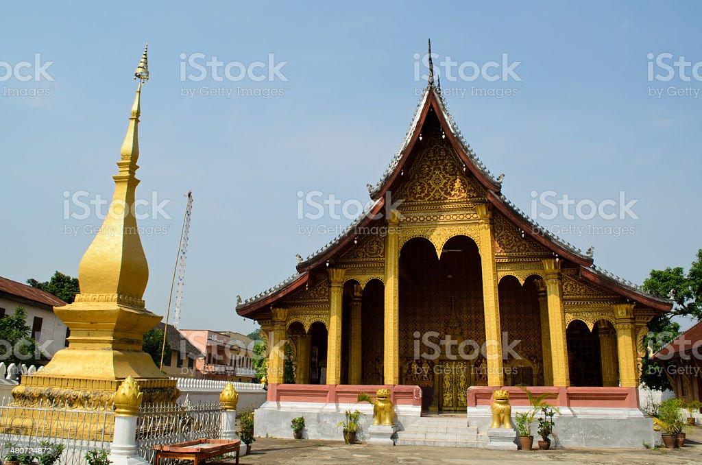 Wat Sene temple in Luang Prabang, Lao stock photo