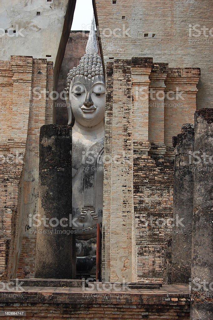 Wat Si Chum, Sukhothai Thailand royalty-free stock photo