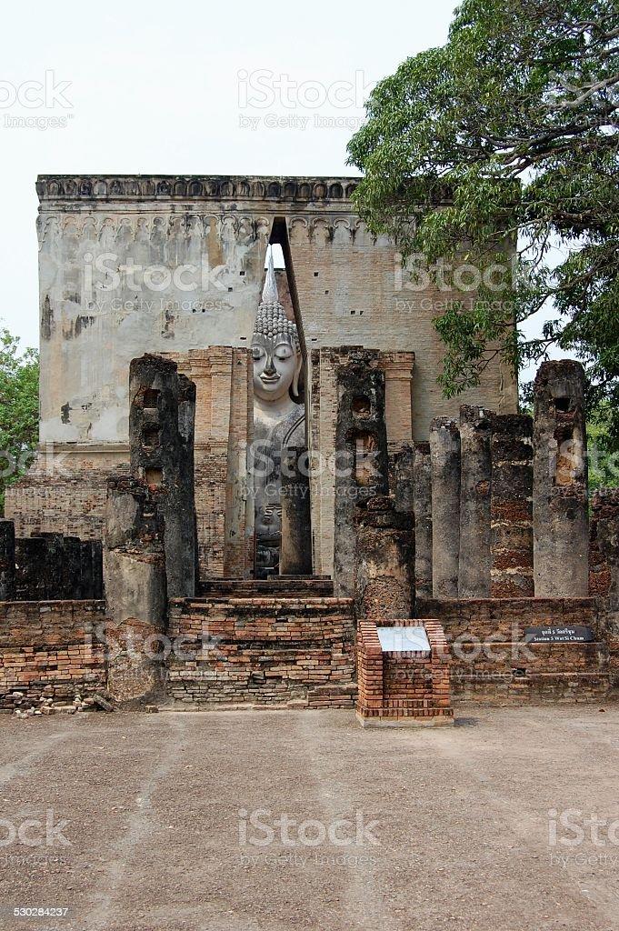 Wat Si Chum, Sukhothai Thailand stock photo