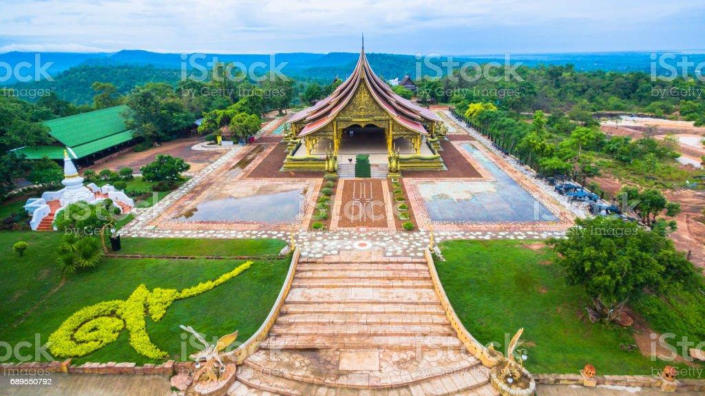 wat Sirindhorn Wararam Phu Prao temple stock photo
