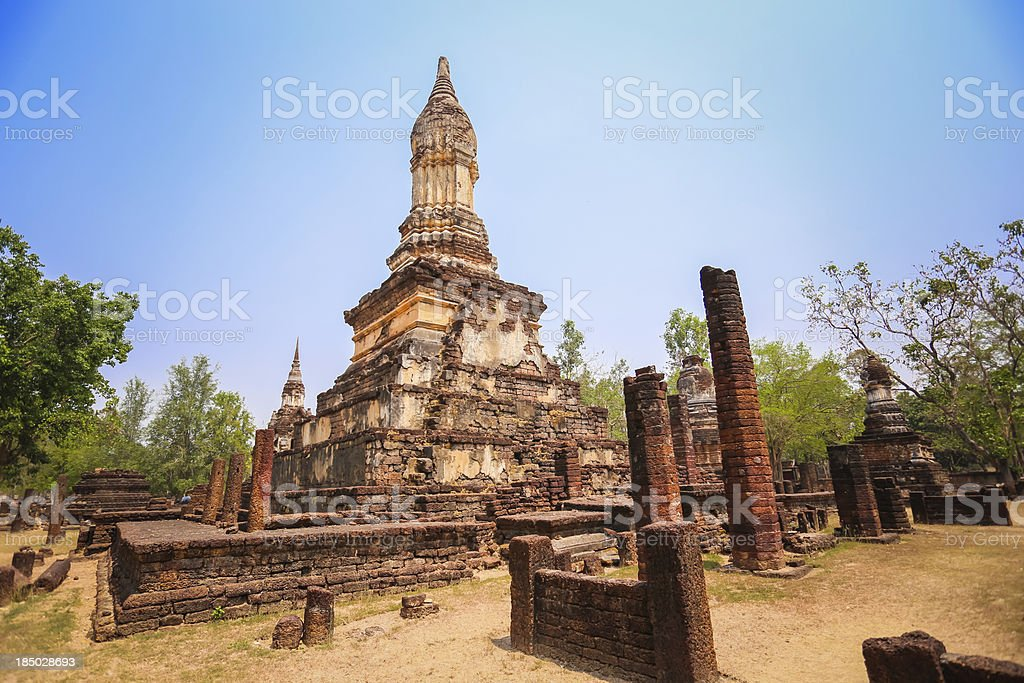 Wat Suan kaeo Uthayan Yai, Suklothai, Thaïlande photo libre de droits