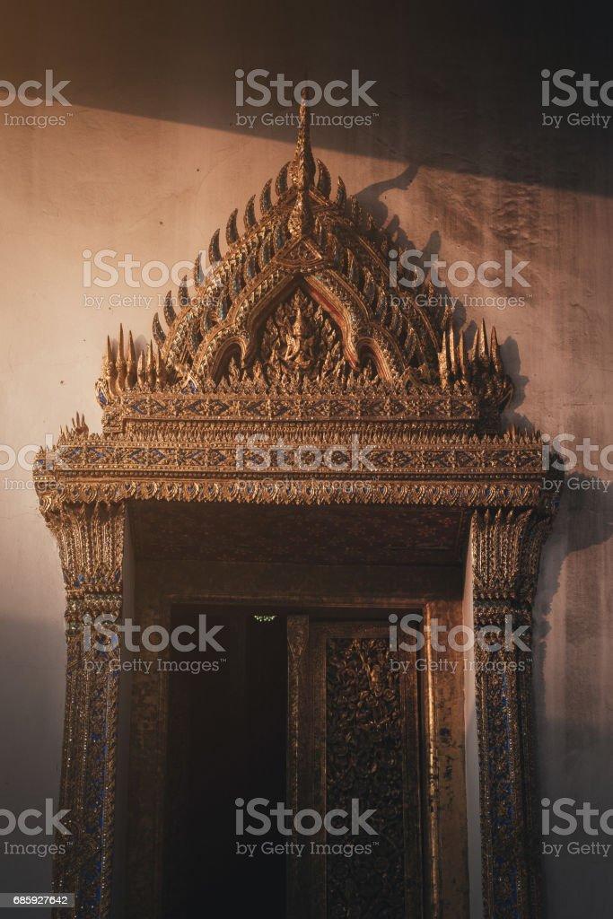 Wat Suthat Thep Wararam temple in Bangkok, Thailand stock photo