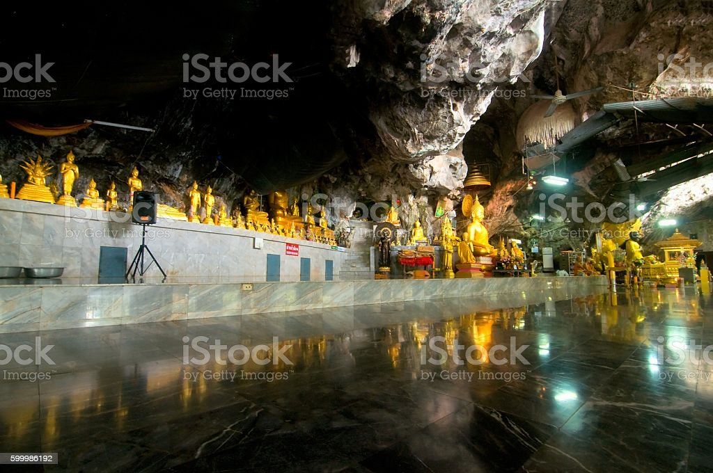 Wat Tham Seua (Tiger Cave), Krabi, Thailand stock photo