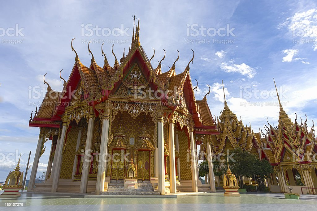 Wat Tham Sua in Kanchanaburi stock photo