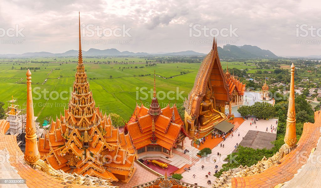 Wat tham sua in Kanchanaburi Thailand stock photo