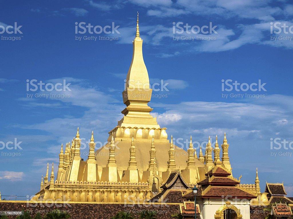 Wat That Luang in Vientiane, Laos royalty-free stock photo