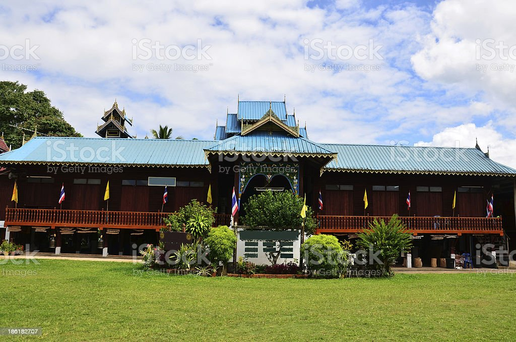 Wat Tophae at Khun Yuam in Mae Hong Son Thailand royalty-free stock photo