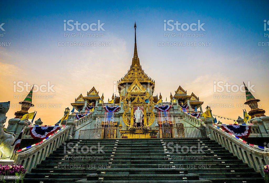 Wat Traimit Bangkok Thailand stock photo
