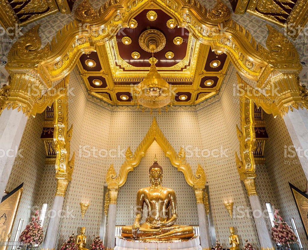 Wat Traimit Chinatown Bangkok Thailand stock photo