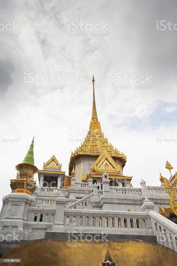 Wat Traimit in Bangkok Thailand stock photo