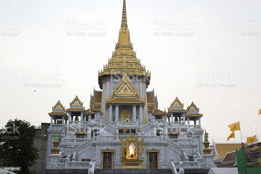 Wat Traimit, the Golden Buddha, Bangkok stock photo