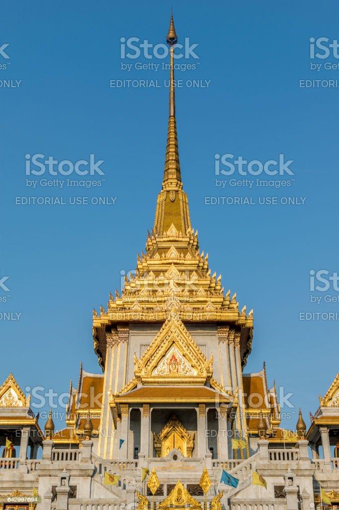 Wat Traimitr Withayaram is a important Thai temple stock photo