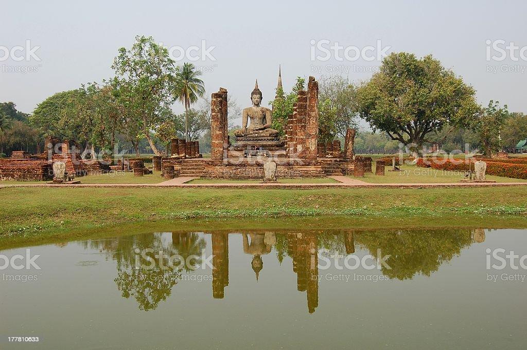 Wat Trapang Ngoen, Sukhotai Thailand royalty-free stock photo