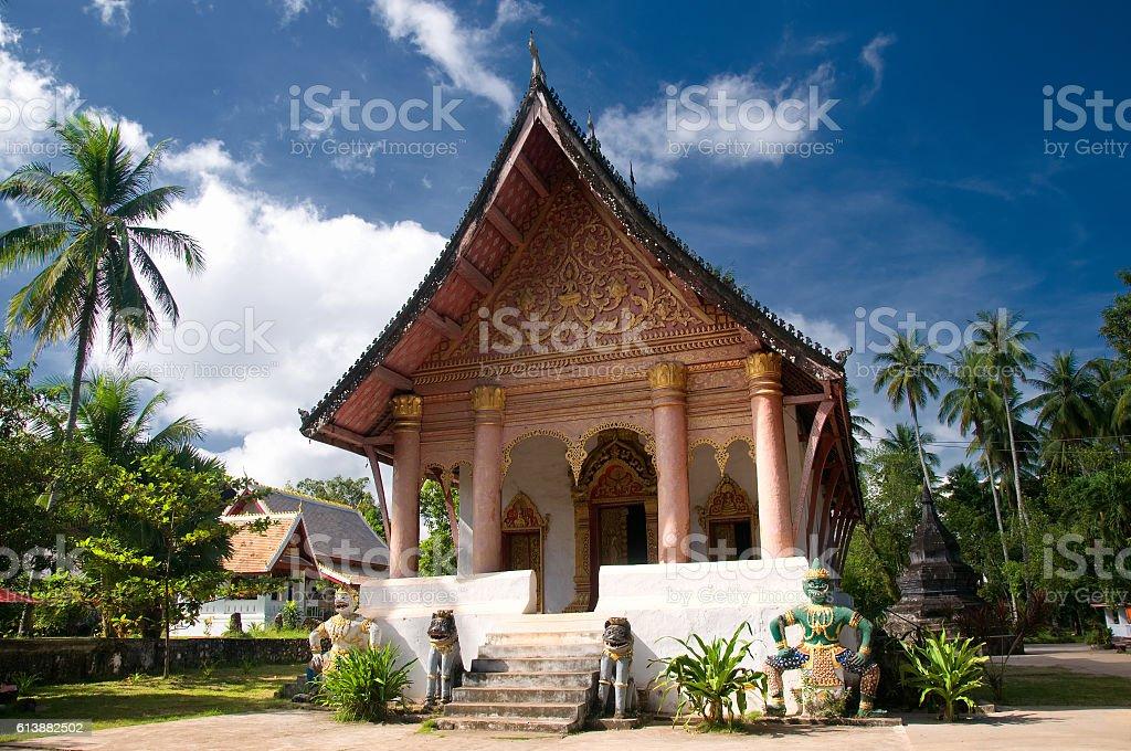 Wat Wisunarat (Wat Visoun) in Luang Prabang, Laos stock photo