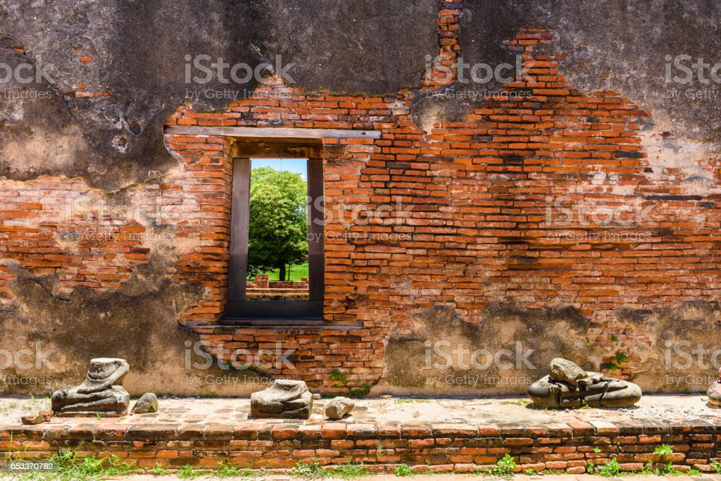 Wat Worrachettharam The measurement is important temple in Ayutthaya, Thailand. stock photo