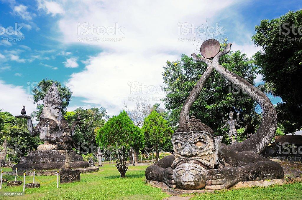 Wat Xieng Khuan (Buddha park), Vientiane, Laos stock photo