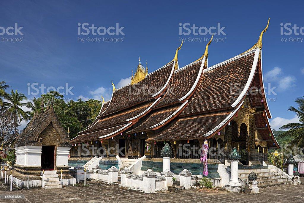 Wat Xieng Thong - Buddhist temple in Luang Prabang stock photo