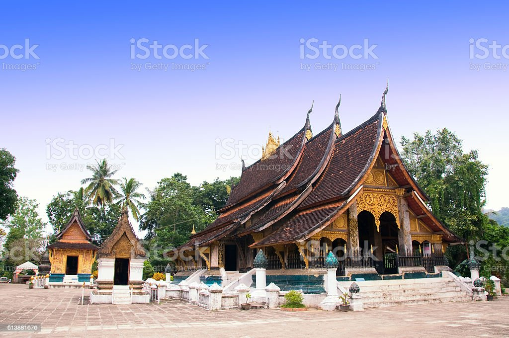 Wat Xieng Thong temple, Luang Prabang, Laos stock photo