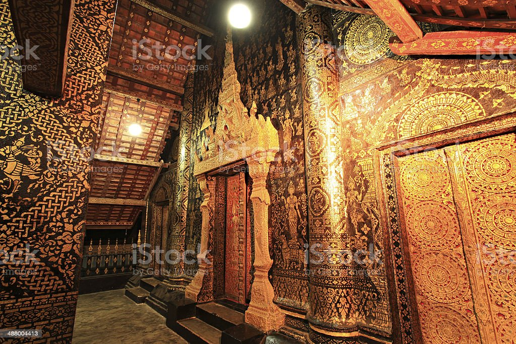 Wat Xieng thong temple,Luang Pra bang, Laos royalty-free stock photo