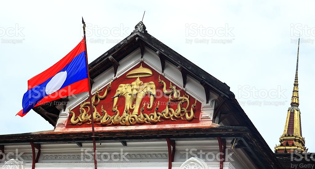 wat xieng thong-luang prabang stock photo