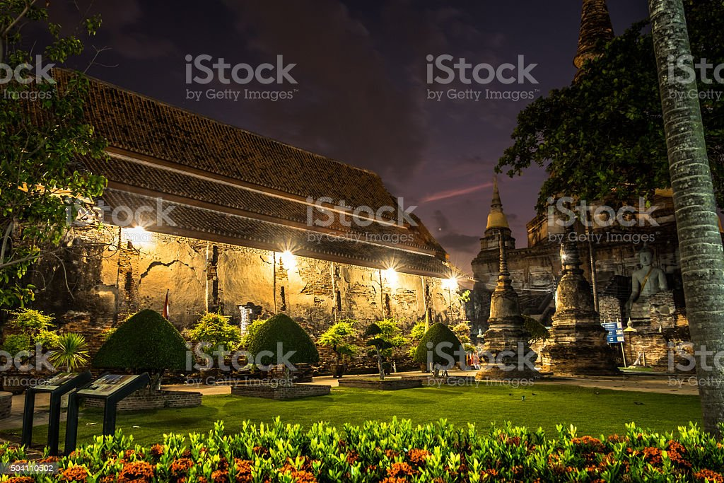 Wat yai chai mongkhon stock photo