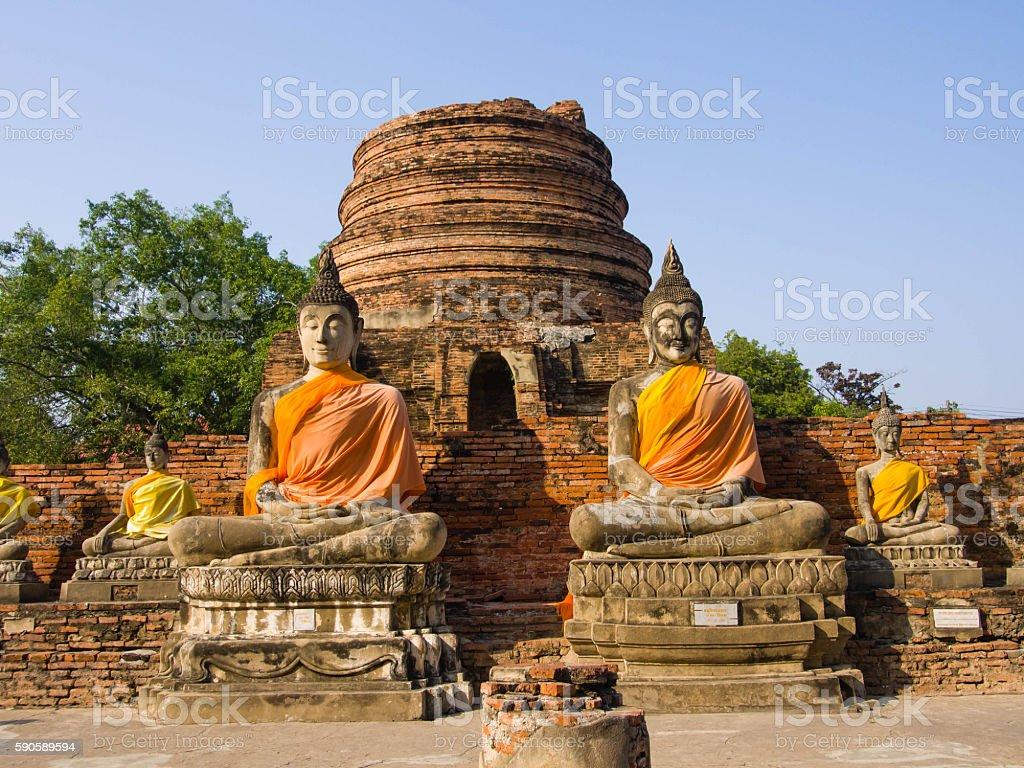 Wat Yai Chai Mongkhon Temple,  Ayuthaya Province, Thailand stock photo