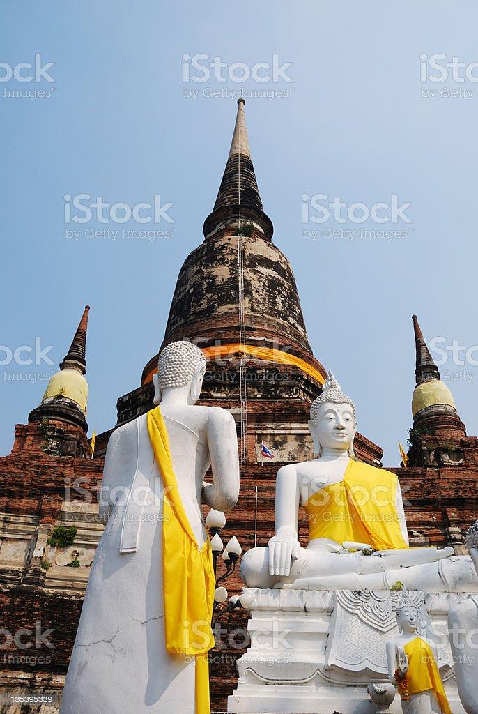Wat Yai Chai Mongkol (Mongkhon) in Ayutthaya. royalty-free stock photo