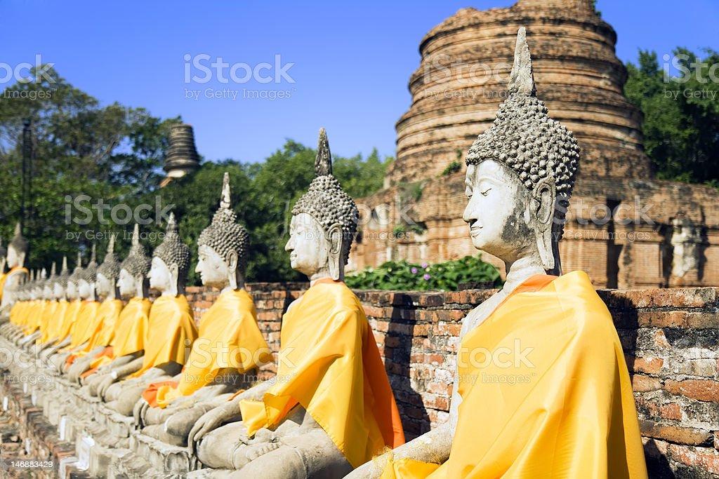 Wat Yai Chai Mongkol royalty-free stock photo