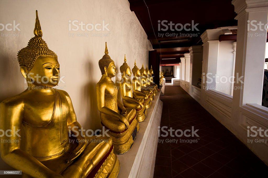 Wat Yai Suwannaram royalty-free stock photo