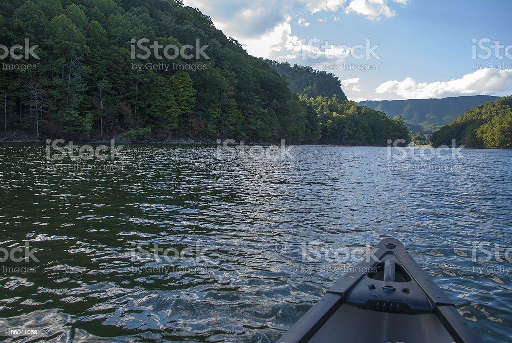 Watauga Lake Canoe royalty-free stock photo